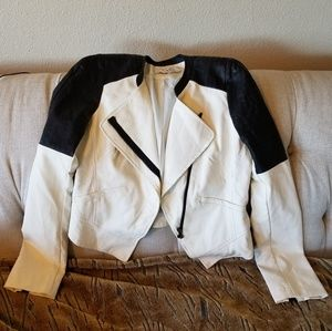 ⚡🔥Lush Brand Moto Jacket Ivory / Cream Black